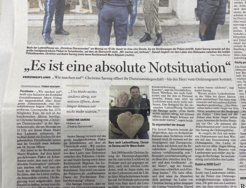 """Absolute Notsituation""- Ladenöffnung trotz Lockdown"
